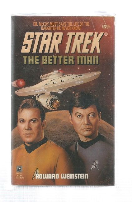 STAR TREK , THE BETTER MAN  , PAPER BACK BOOK
