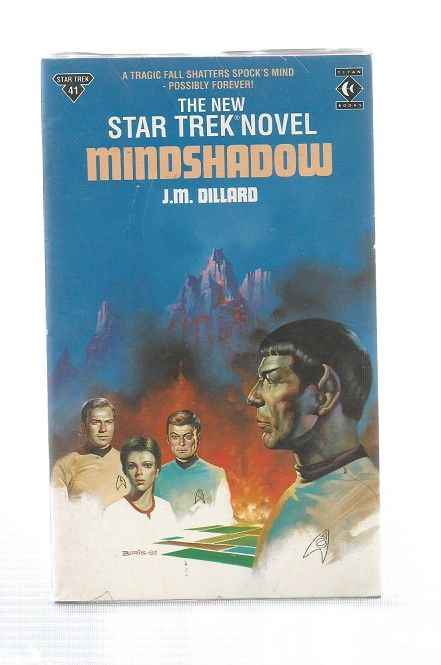 STAR TREK , MINDSHADOW , PAPER BACK BOOK