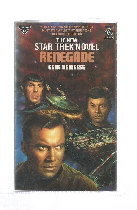 STAR TREK , RENEGADE  , PAPER BACK BOOK