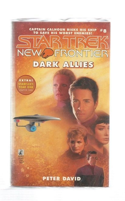 STAR TREK , NEW FRONTIES DARK ALLIES , PAPER BACK BOOK
