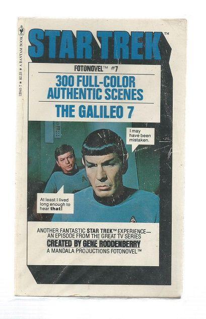 STAR TREK , THE DEADLY YEARS ,  FOTONOVEL PAPER  BACK BOOK  (RARE)