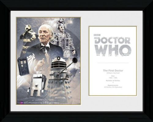 Doctor Who 1st Doctor William Hartnell  Framed Photographic  Licensed