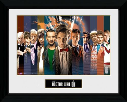 Doctor Who 11 Doctors , Framed Photographic Licensed