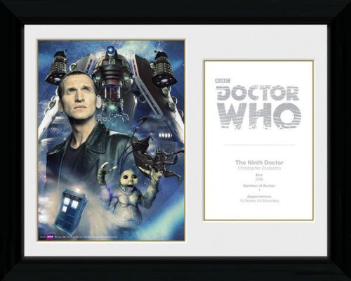 Doctor Who 9th Doctor Christopher Ecclestone ,  Framed Photographic  Licens