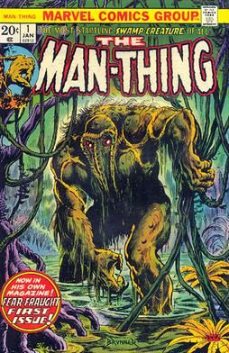 BOX  17. MARVEL COMICS , MAN-THING ,THIS COMIC IS FOR DISPLAY