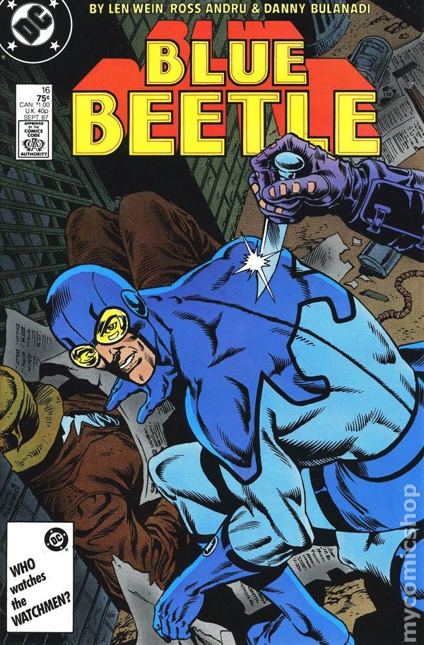 BOX 25 . DC. COMICS , BLUE BEETLE   ,THIS COMIC IS FOR DISPLAY