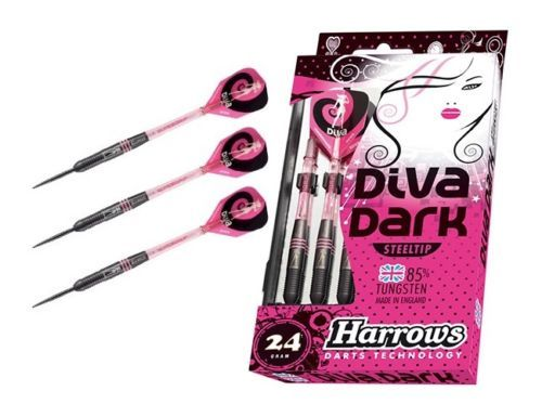 Diva Dark 85% Tungsten Darts by Harrows 24 GMS