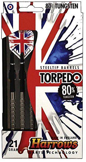 Harrows Torpedo 80% Tungsten Steeltip Darts 21 GRMS