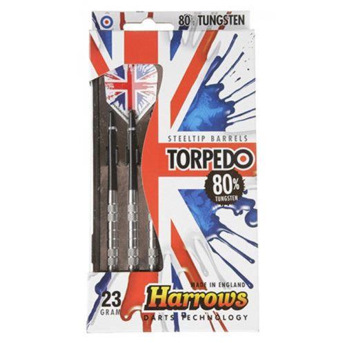 Harrows Torpedo 80% Tungsten Steeltip Darts 23 GRMS
