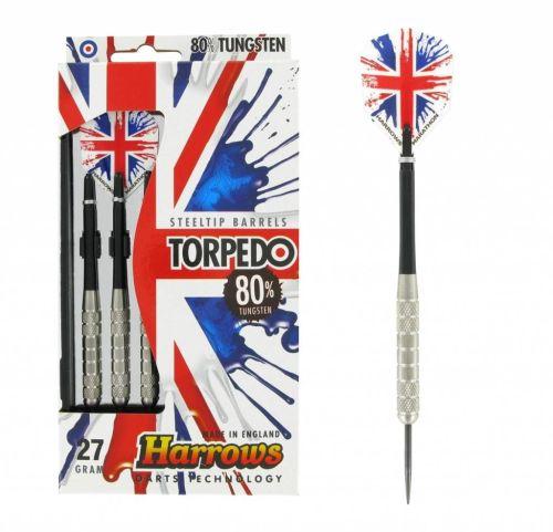 Harrows Torpedo 80% Tungsten Steeltip Darts 27 GRMS