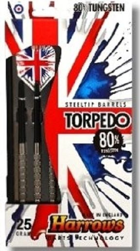 Harrows Torpedo 80% Tungsten Steeltip Darts 28 GRMS
