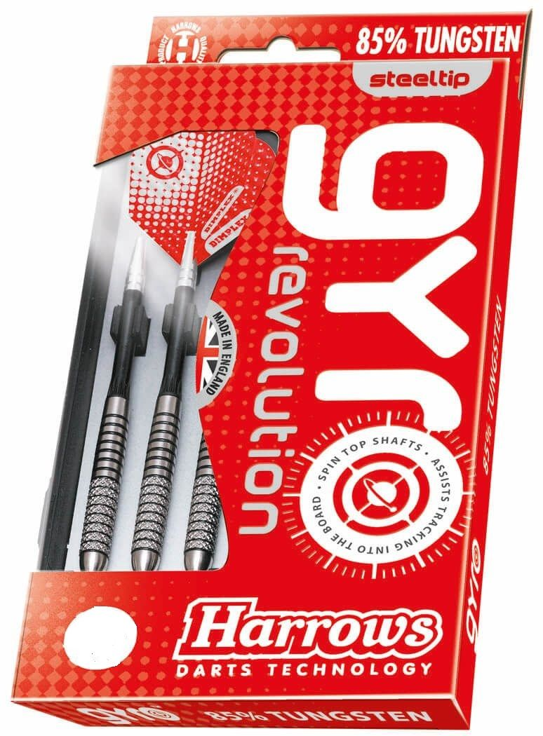 Harrows Knurled  Gyro Tungsten 85% Darts  22 grms  Steel Tip