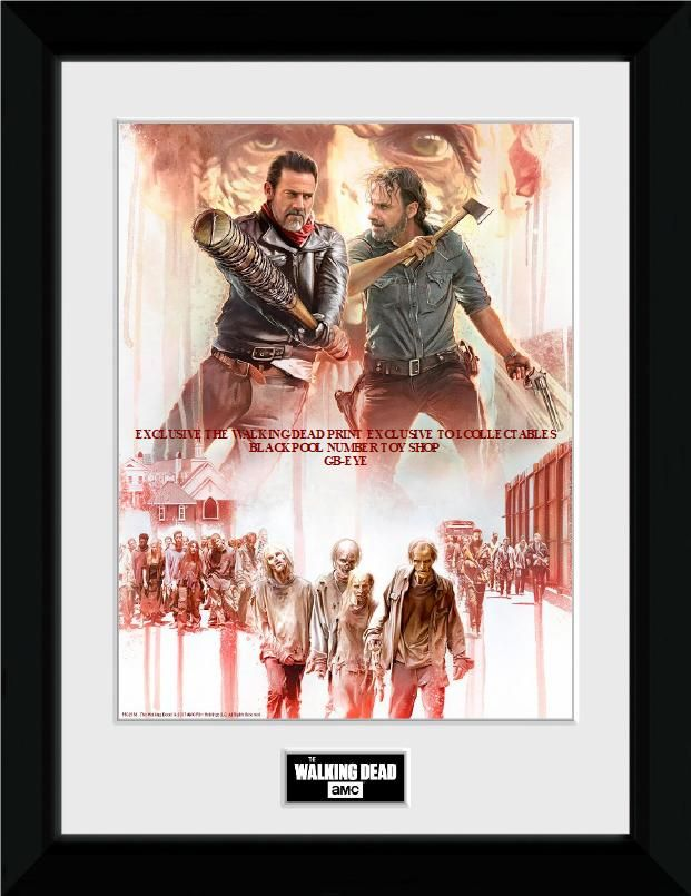 WALKING DEAD PRINT EXCLUSIVE TO . I.COLLECTBABLE BLACKPOOL NUMBER TOY SHOP