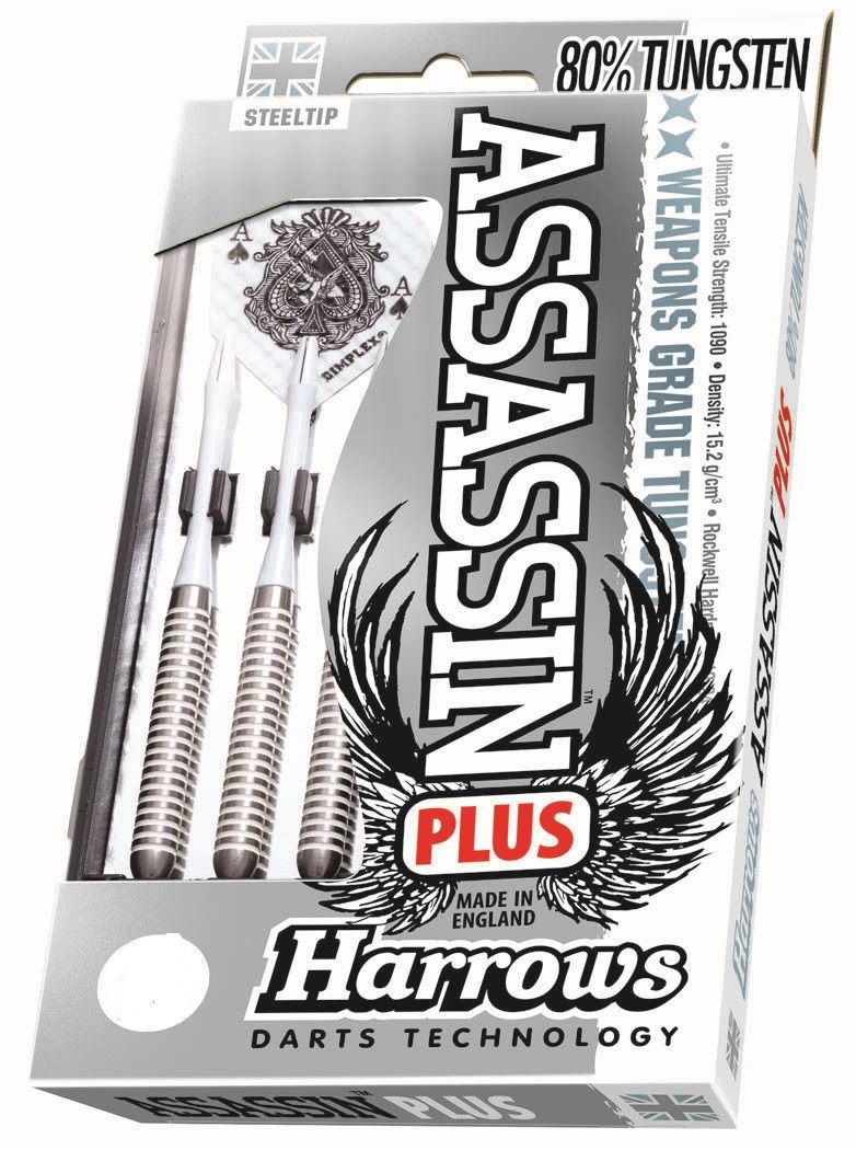Harrows Assassin Plus  80%  Tungsten Darts – White Ring 24grmsDarts