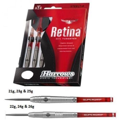 Harrows Retina 95% tungsten darts Steel Tip Darts 25 grms