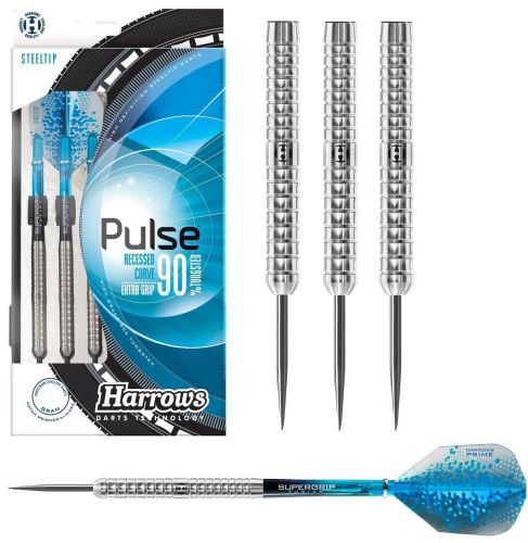 Harrows Pulse 90% Tungsten Steel Tip Darts - 26g,