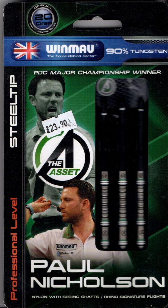 Paul Nicholson 20grm 90% tungsten darts