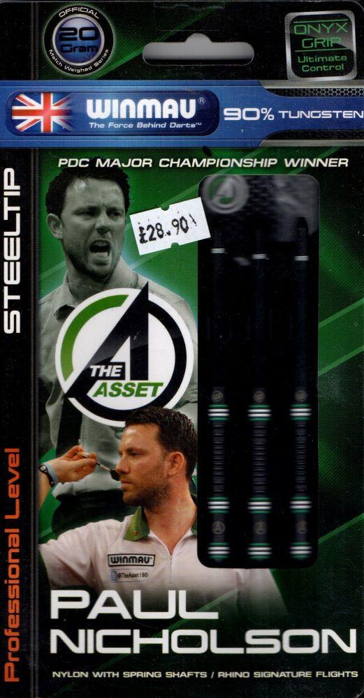 Paul Nicholson 20grm ONYX  90% tungsten darts