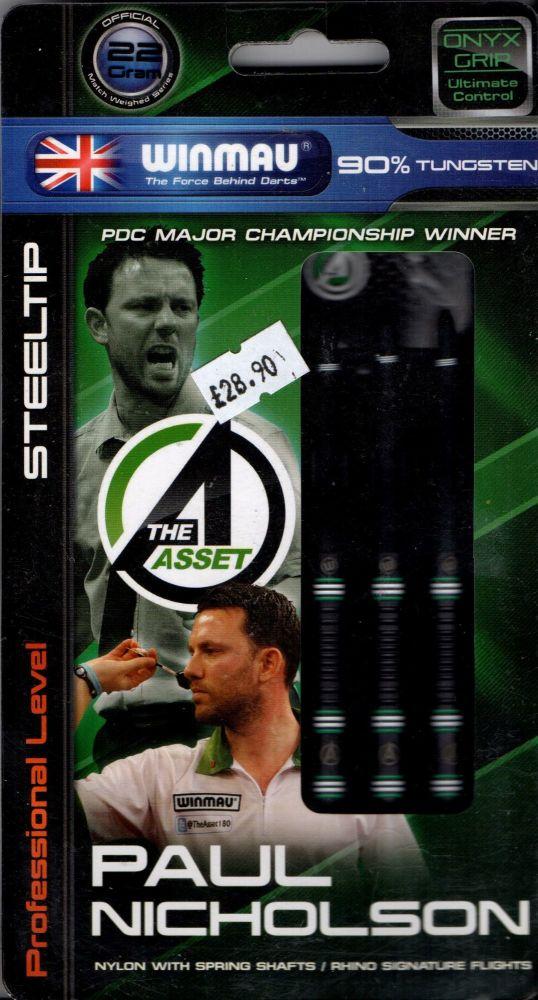 Paul Nicholson 22 grm ONYX  90% tungsten darts