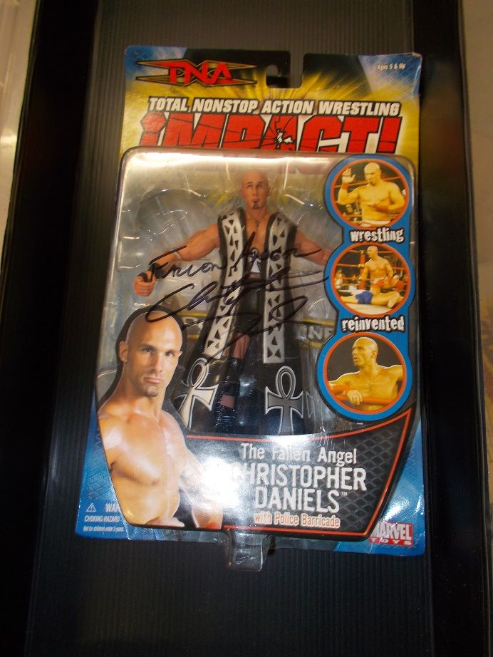 SIGNED AUTOGRAPH IMPACT WRESTLING TNA ,THE FALLEN ANGEL CHRISTOPHER DANIES