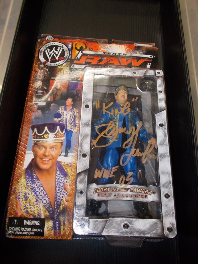 SIGNED AUTOGRAPH WWE RAW 10TH Anniversary Jerry The King Lawler