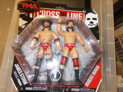 SIGNED AUTOGRAPHMATT SIGNED BY JAMES STORM 2 PACK WITH BOBBY ROODE