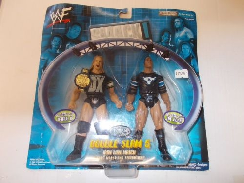 wwf smack down , the rock and triple h