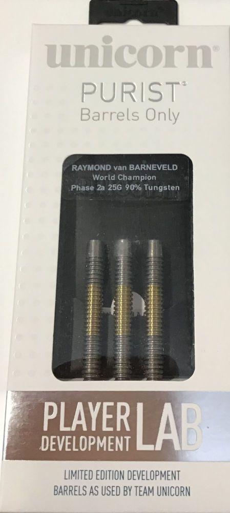 raymond van barneveld world champion phase 2a 25grm 90% tungsten darts 2734