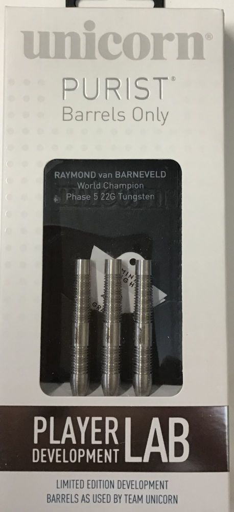 raymond van barneveld world champion 22grm  tungsten darts purist barrells