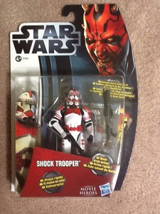 Star Wars Movie Heroes Collectable Articulated Action Figure shock trooper