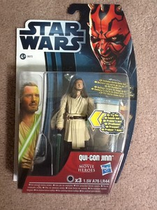 Star Wars Movie Heroes Collectable Articulated Action Figure  qui-gon jinn