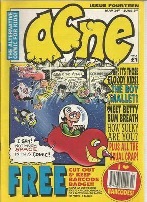 BRITISH COMICS  ACNE ,  issue 14 ,  (box-1)