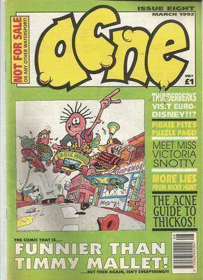 BRITISH COMICS  ACNE ,  issue 8 ,  (box-1)