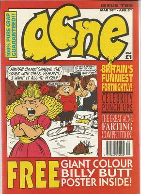 BRITISH COMICS  ACNE ,  issue 10 ,  (box-1)