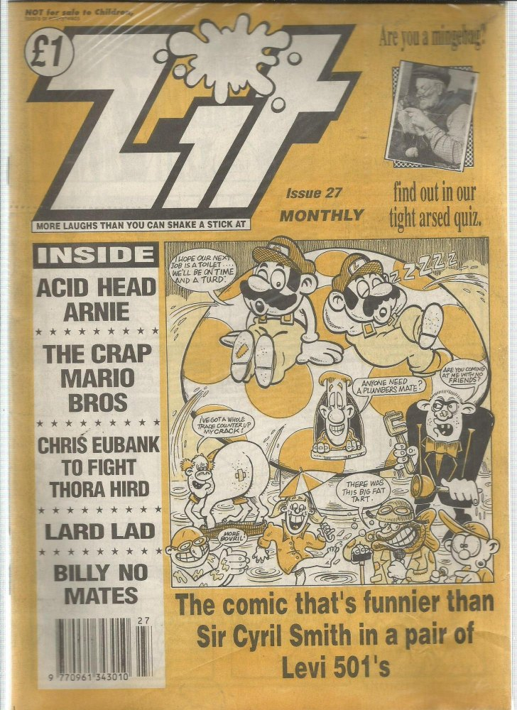 BRITISH COMICS > ZIT , NUMBER 27 (not for sale to children)