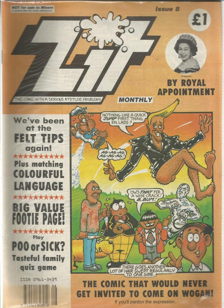 BRITISH COMICS > ZIT , NUMBER 8 (not for sale to children)