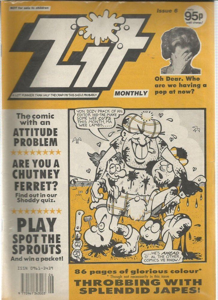 BRITISH COMICS > ZIT , NUMBER 6 (not for sale to children)
