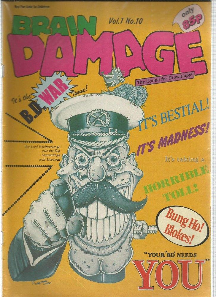 BRITISH COMICS > BRAIN DAMAGE , NUMBER VOL:1 NO.10