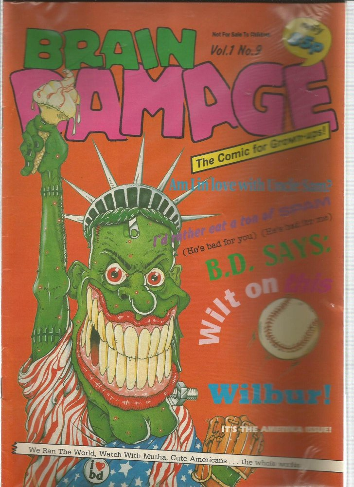 BRITISH COMICS > BRAIN DAMAGE , NUMBER VOL:1 NO.9