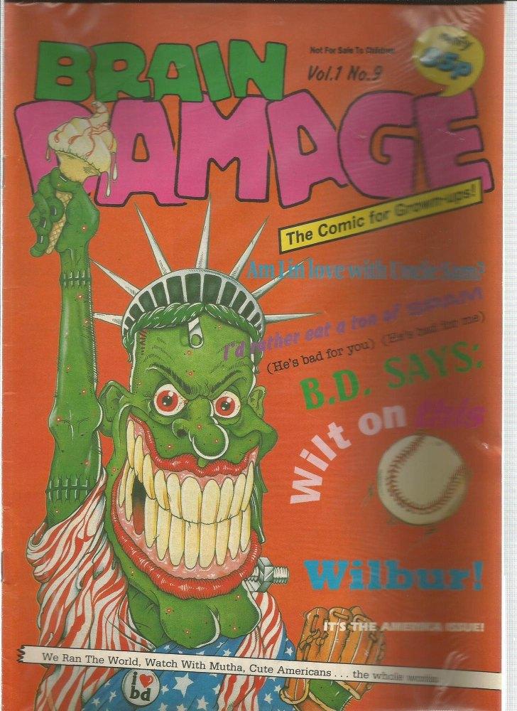 BRITISH COMICS > BRAIN DAMAGE , NUMBER VOL:1 NO.9