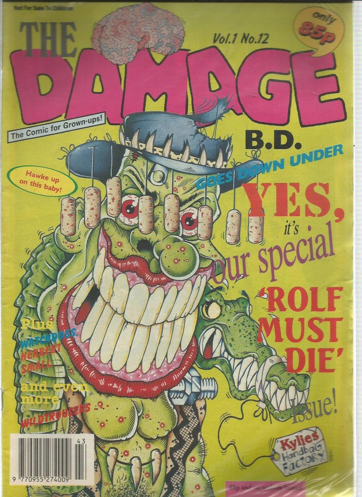 BRITISH COMICS > BRAIN DAMAGE , NUMBER VOL:1 NO.12