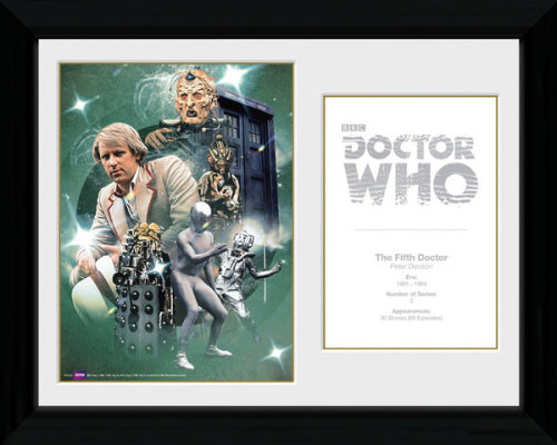 Framed Photographic > Collector Print  Doctor Who 5th Doctor Peter Davison