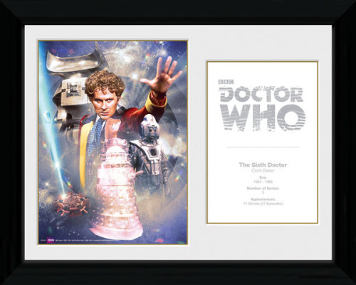 Framed Photographic > Collector Print   Doctor Who 6th Doctor Colin Baker