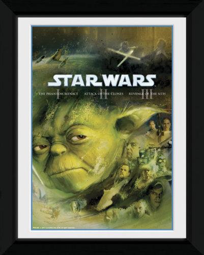 Framed Photographic > Collector Print , Star Wars Blu Ray Prequel yoda