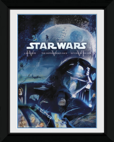 Framed Photographic > Collector Print , Star Wars Blu Ray Classic vader 15x