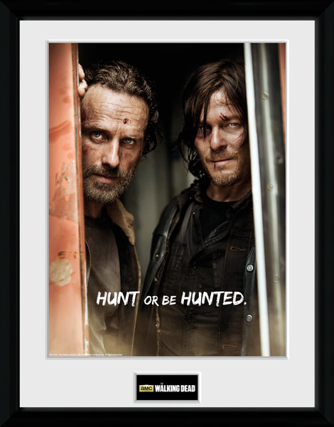 Framed Photographic > Collector Print   The Walking Dead Rick and Daryl 30x