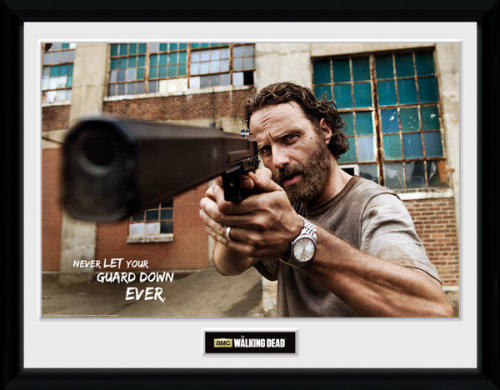Framed Photographic > Collector Print The Walking Dead Rick Gun  30x40