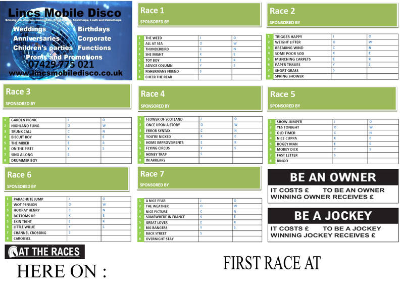 RACE SALES POSTER