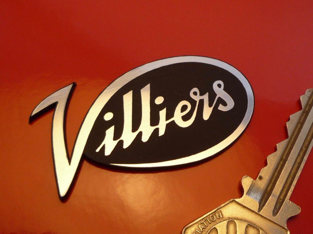 "Villiers Logo Style Laser Cut Self Adhesive Bike Badge. 2.25""."