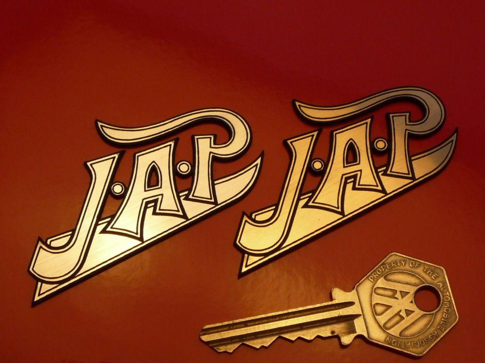 "JAP Logo Style Laser Cut Self Adhesive Bike Badge. 1.75"" or 2.75""."